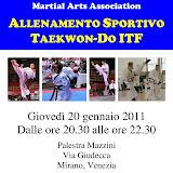 Allenamento Sportivo M° Pegoraro e M° Pintonello - 20.01.11
