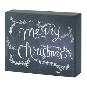 Chalkboard Canvas Merry Christmas