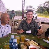 Sharing a Shuar feast with JorgeAilla, Daniel Pelozo, and Jay DIckerson
