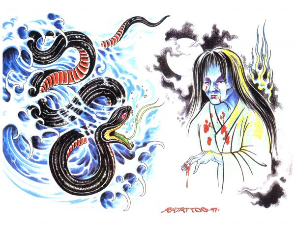 Silent Tattoo Design 1, Fantasy Tattoo Designs