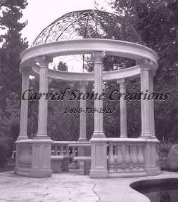 carved stone, Column, Dome, Exterior, Gazebo, Gazebos, Ideas, Landscape Decor