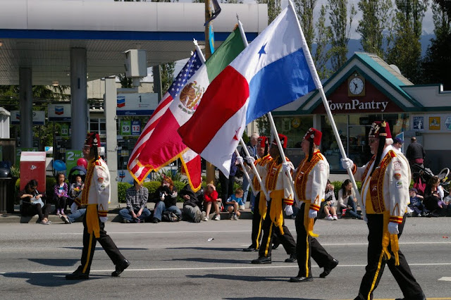 w00t! It's neat to see the Panamanian and Mexican flags fly over Burnaby. I think these guys are Shriners of some sort.