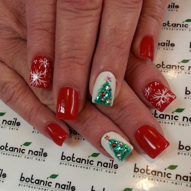 Christmas Tree Nails Design: Christmas Nail Art Collection Trends