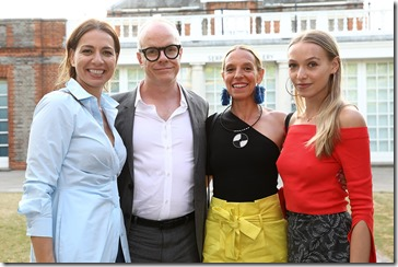 LONDON, ENGLAND - JULY 12:  Yana Peel, Hans Ulrich Obrist, Tiphaine Chapman and XX attend the COS celebration of The Serpentine Parks Nights 2017 at The Serpentine Pavilion on July 12, 2017 in London, England.  (Photo by David M Benett/Dave Benett/Getty Images for COS)