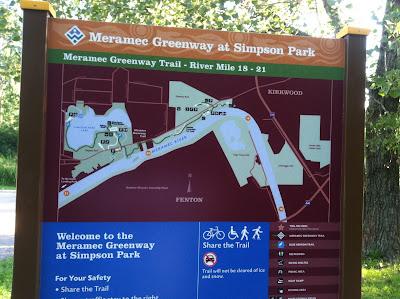 meramec,simpson,park,sign,map,trail,rules