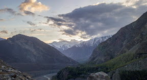 Beautiful Sunset view in the mountains, Hunza Valley