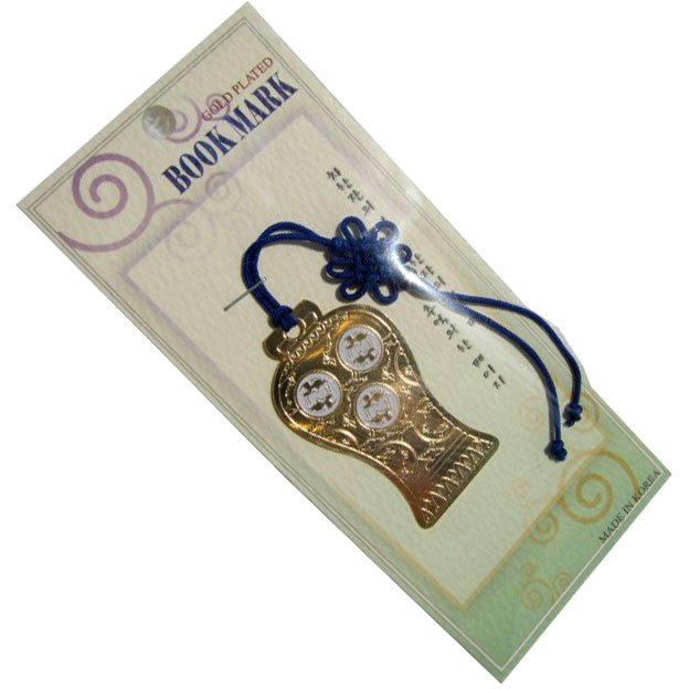 Korean Folk Art 24K Gold Plated Bookmarks
