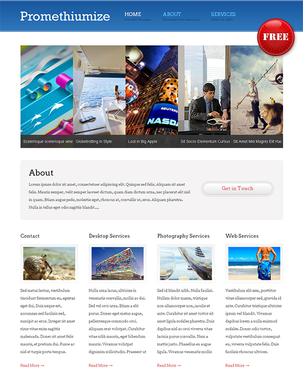 Promethiumite Flexible WordPress Theme
