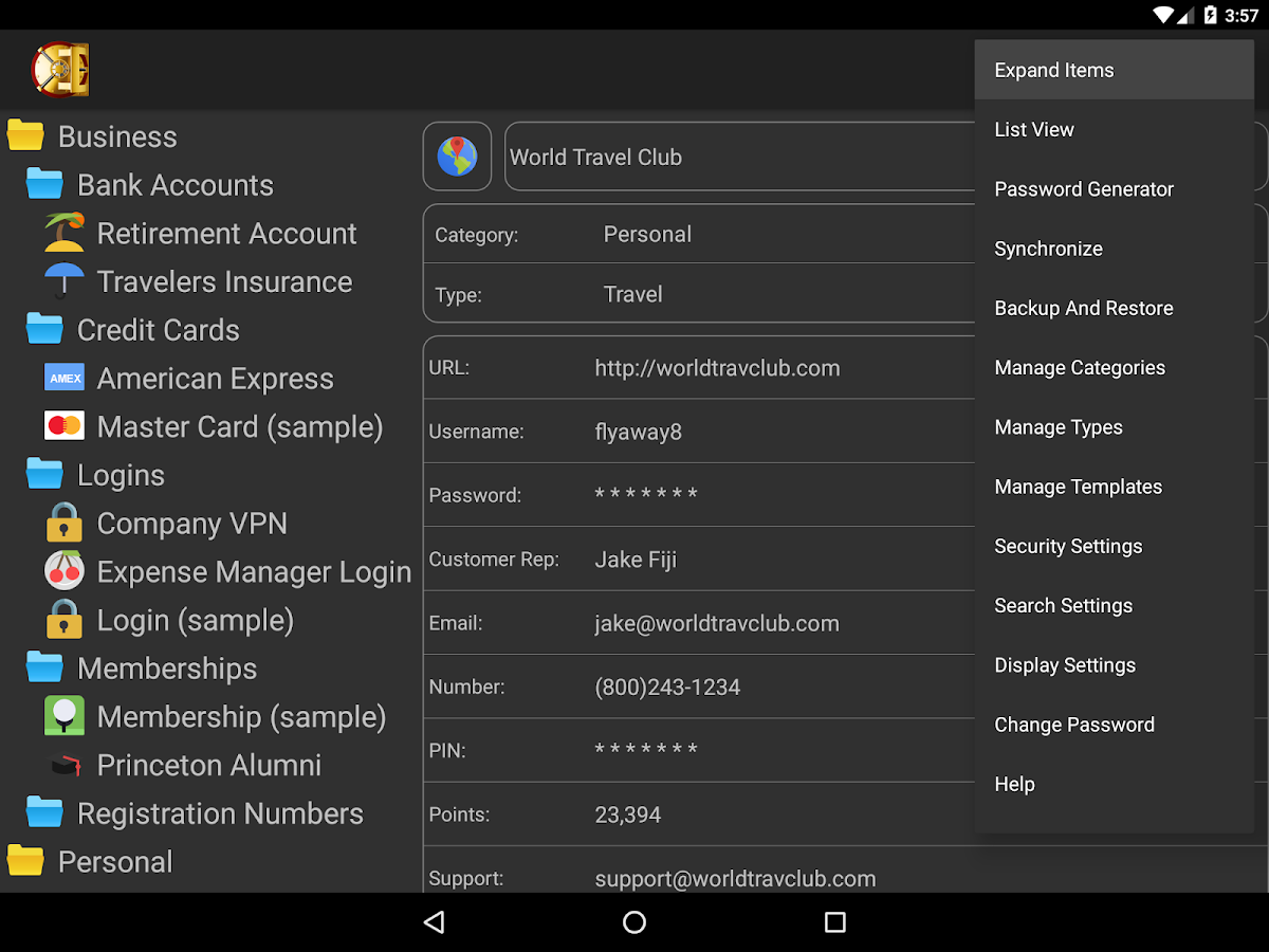 DataVault Password Manager- screenshot