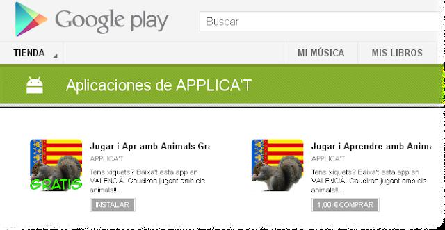 App's APPLICA'T en Google Play