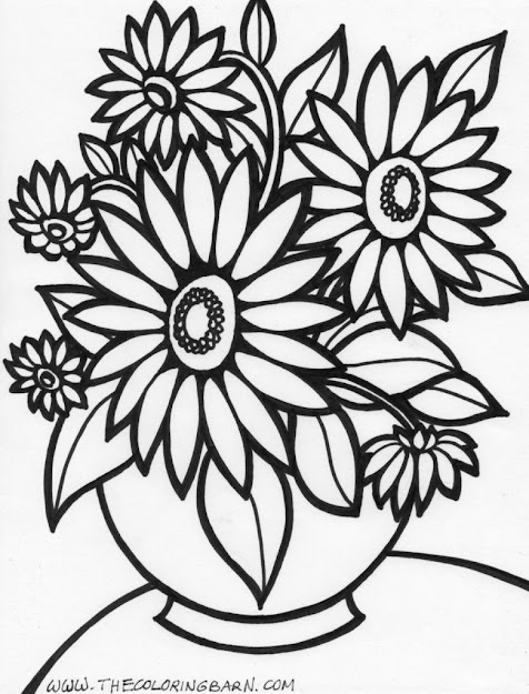 Big Flower Coloring Page Coloring Pages Rose Flower Coloring Page Flowers  Coloring Pages