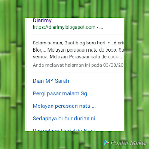 Pelik blog baru diarimy dah dapat sitelink