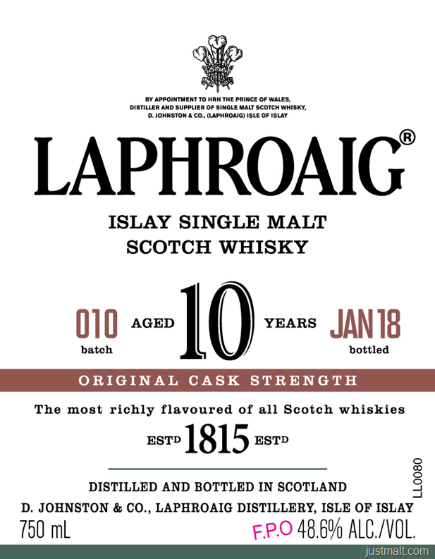 Laphroaig Islay Single Malt 10-Year