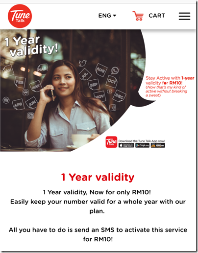 Tune Talk One Year Validity
