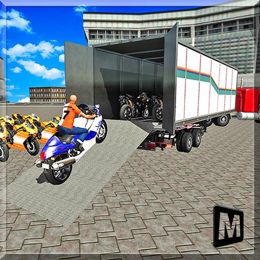 模拟のバイク輸送ビッグトラック LOGO-記事Game