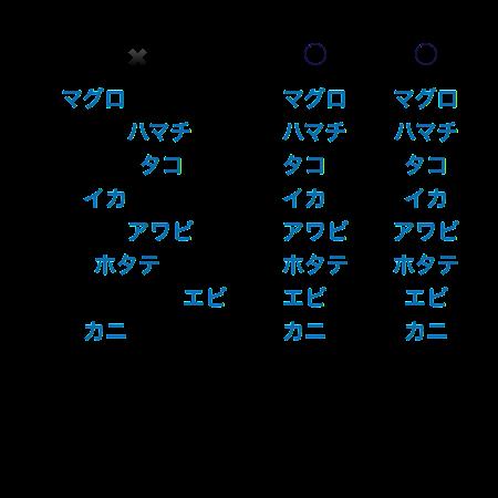 整列の説明例
