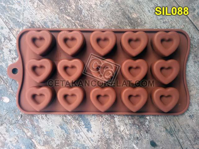 cetakan coklat cokelat SIL SIL088 SIL88 Love