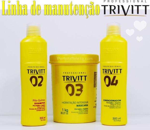 linha de manutenção trivitt itallian hairtech