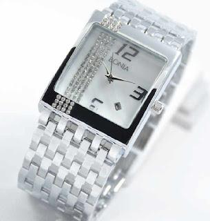 jam tangan bonia tikar date full silver