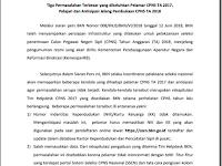 Siaran Pers BKN: Tiga Kesalahan Besar Pelamar CPNS 2017, Pelajari dan Antisipasi Jelang Pembukaan CPNS 2018