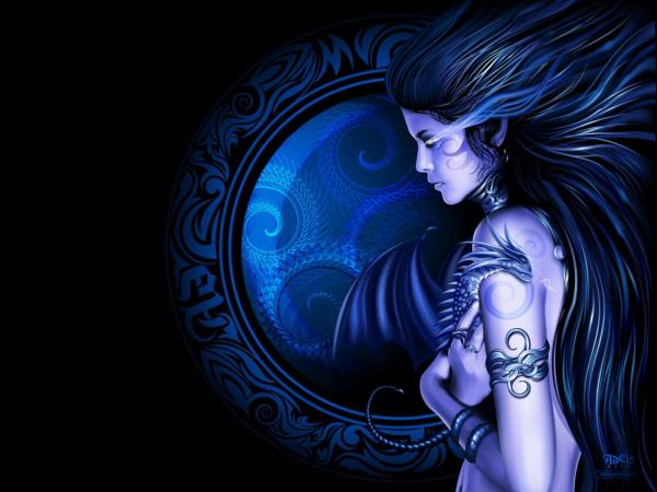 Pretty Goddess Face, Dark Goddess