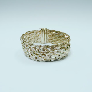 Sterling Silver Braided Rope Bracelet
