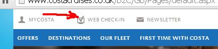 Как пройти WEB-регистрацию в круиз Costa