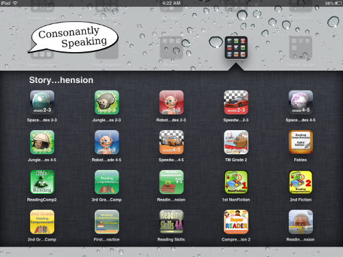 Consonantly Speaking Story Comprehension Apps