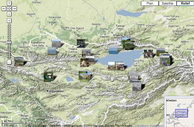 Kyrgyzistan juin & juillet 2006 : localisation des photos