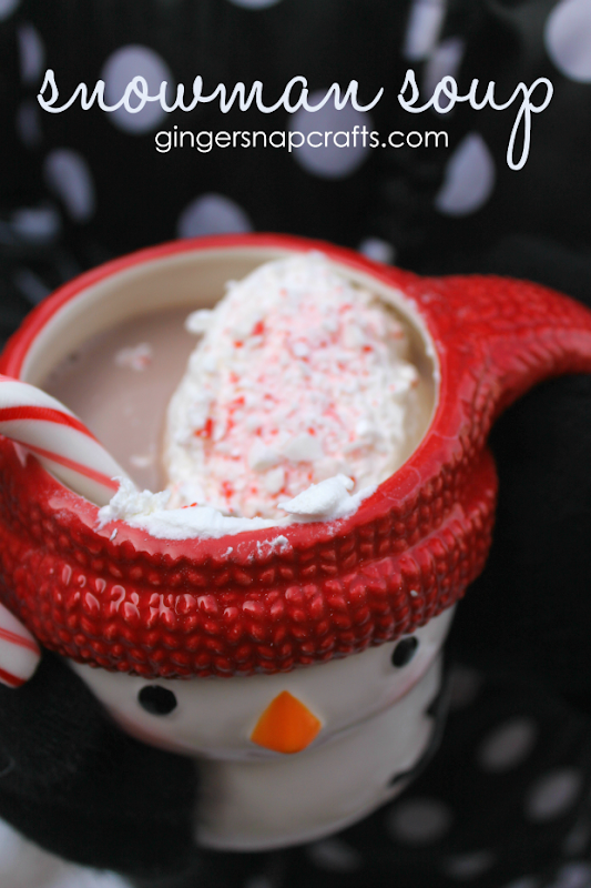 snowman soup at GingerSnapCrafts.com #snowday