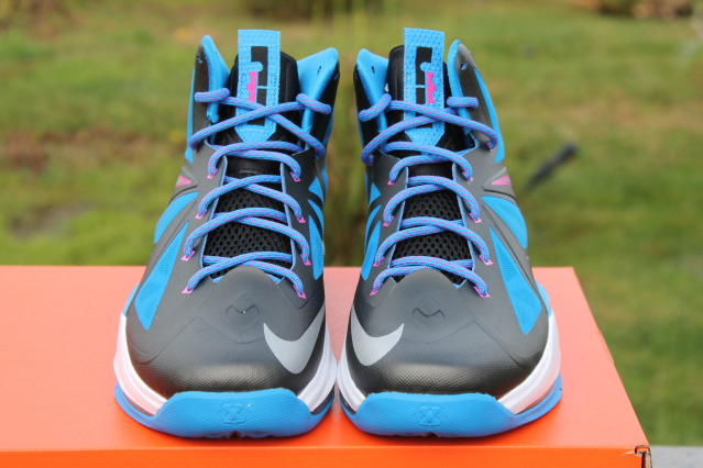 best website aa2c1 9e9eb ... New LeBron X GS in BlackMetallic SilverPhoto BlueWhite ...