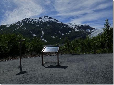 view of Exit Glacier, near Seward Alaska