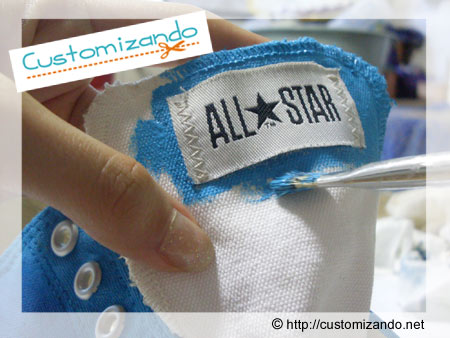Customização de tênis All Star Ombré (degradê)