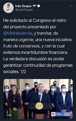 Tweet Iván Duque