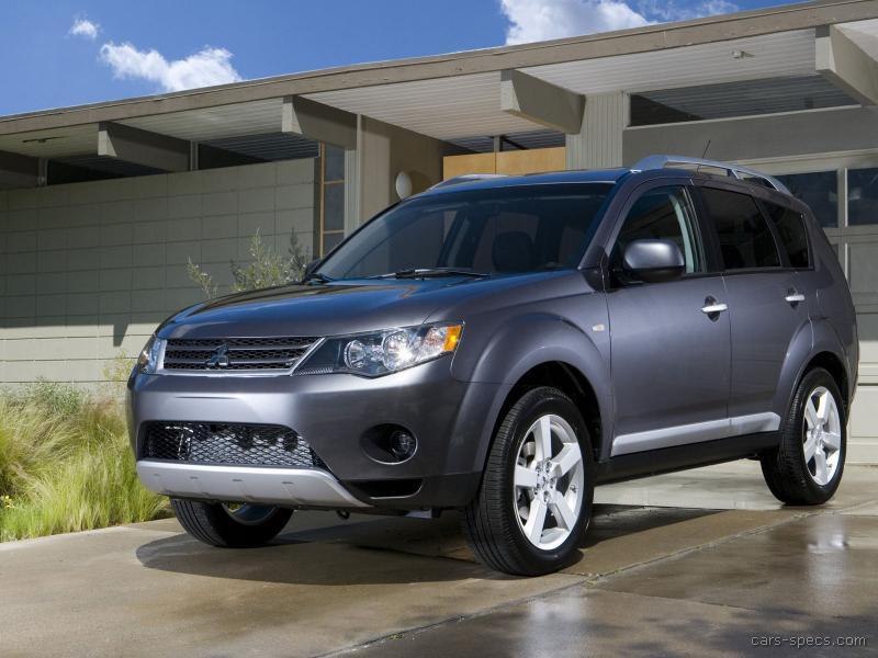 2008 mitsubishi outlander suv specifications pictures prices. Black Bedroom Furniture Sets. Home Design Ideas