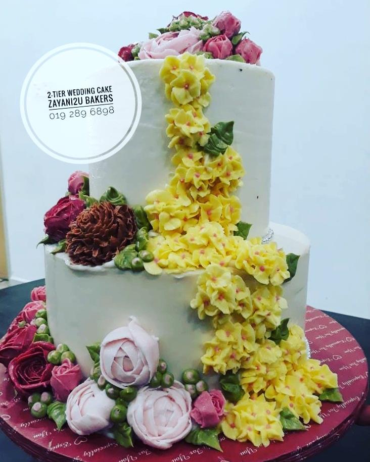 Zayani2u Bakers: Korean Flower Wedding Cake