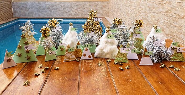 DIY advent calendar, original and cute advent calendar, make your own christmas decorations, christmas decor tutorial, paper pyramids