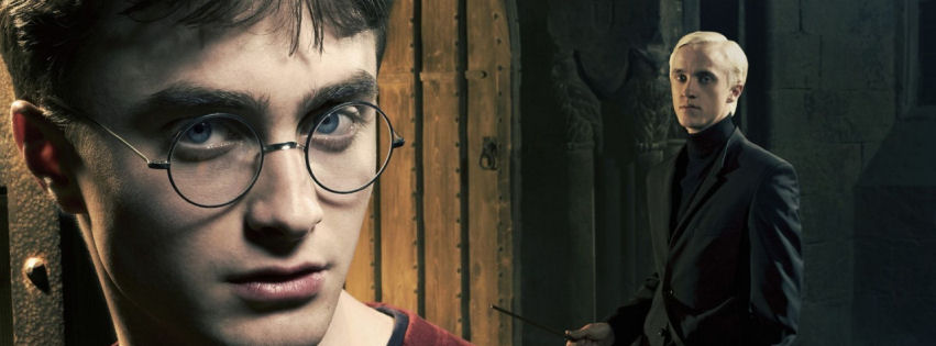 Harry potter and draco malfoy facebook cover