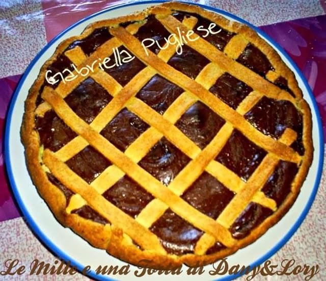 crostata con nutella e crema alla nutella