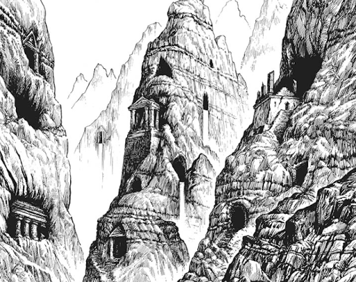 The canyon sides of Archia