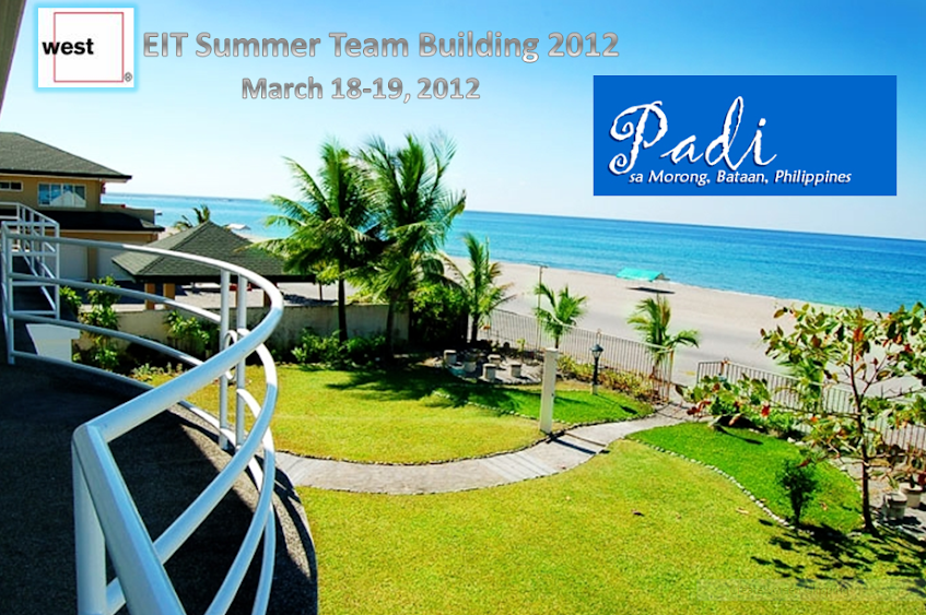 West EIT Summer Team Building, March 18-19, 2012, Padi sa Morong, Padi, Padi sa Morong Bataan, Padi sa Bataan, Summer Beach, Beach REst House, Private Beach Rest House, Morong Bataan, Subic, Rali's, Ralis Bar and Grill Subic, SBMA, Subic Bay Beaches, Subic Bay, Strand Subdivision, Padi Street, White Beach House, South China Sea, Solemn Beach House, PadiSaMorongBataan, PadiSaMorong