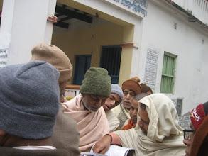 Photo: The new magazines offered to Sripad BV Madhusudan Maharaja, godbrother of Srila Gurudeva @ Devananda Gaudiya Math