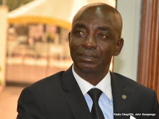 Le député national Bitakwira  le 9/06/2015 au palais de la nation à Kinshasa lors des consultations organisées par le Président Joseph Kabila. Radio Okapi/Ph. John Bompengo