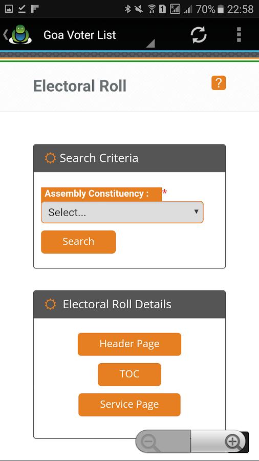 Voter List Online 2017 Screenshot