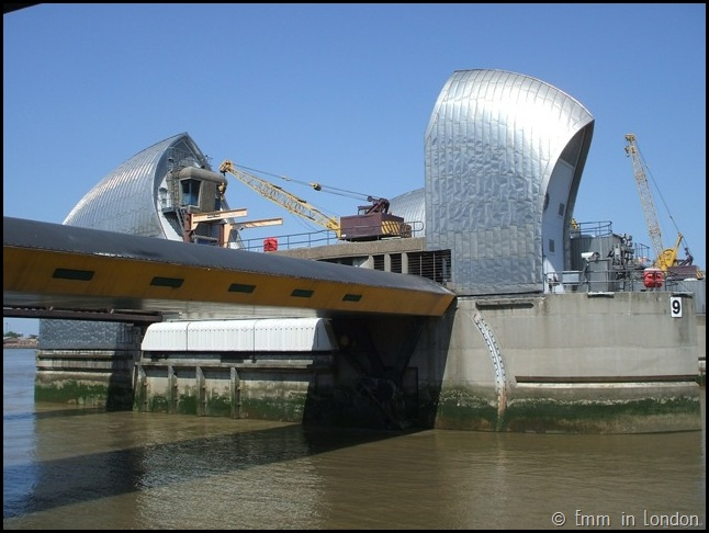Close up of the Thames Barrier London