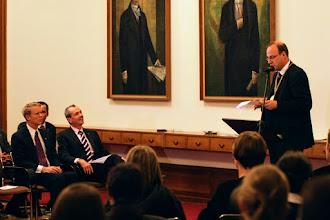 Photo: HU-Präsident Markschies heißt Botschafter Murphy willkommen