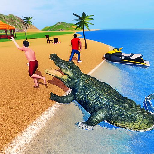 Angry Crocodile Family Simulator: Crocodile Attack