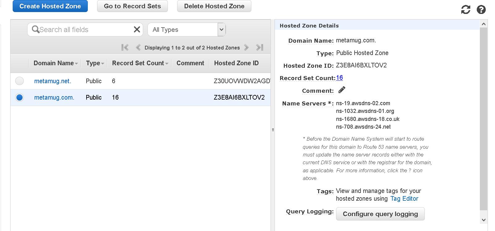 AWS - Migrate Godaddy DNS to Route 53
