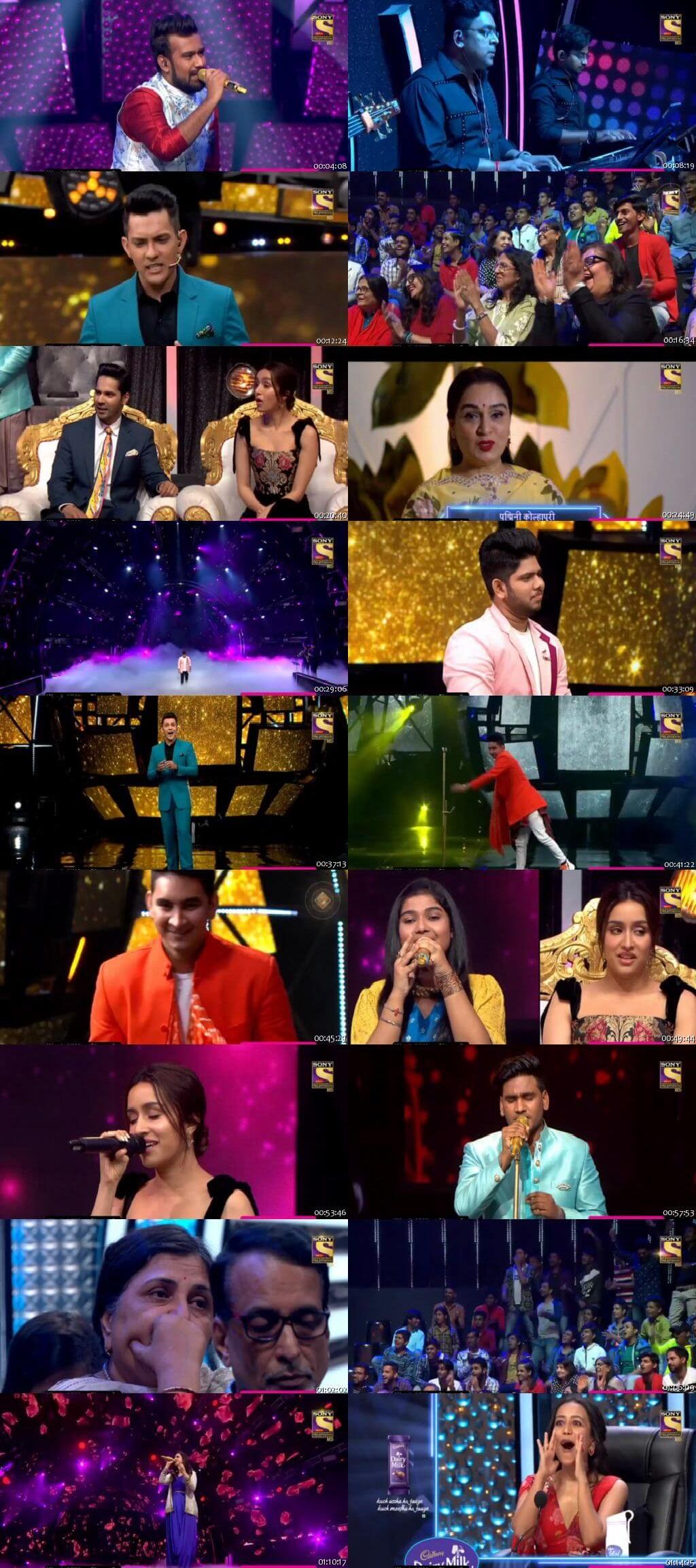 Screenshots Of Hindi Show Indian Idol 18th January 2020 Episode 29 300MB 480P HD