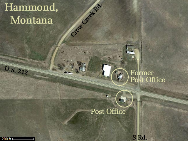 Hammond, MT annotated map